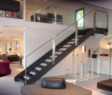 SMPR Escalier Showroom Boffi Nantes