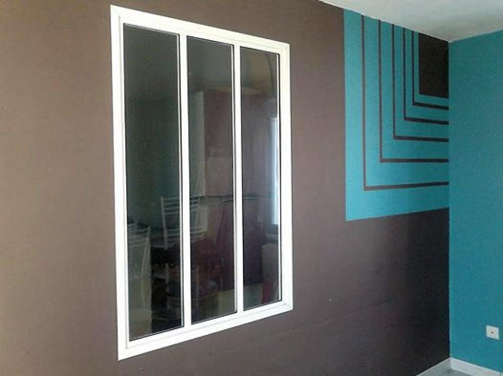 verrire interieure aluminium fenetre interieure dans cloison verriere avec porte coulissante en. Black Bedroom Furniture Sets. Home Design Ideas